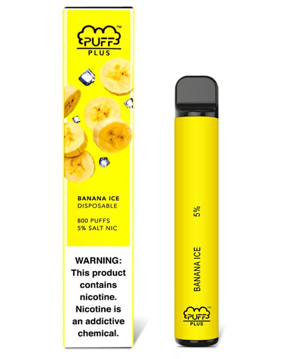 Banana ICE by PUFF Plus Disposable kit